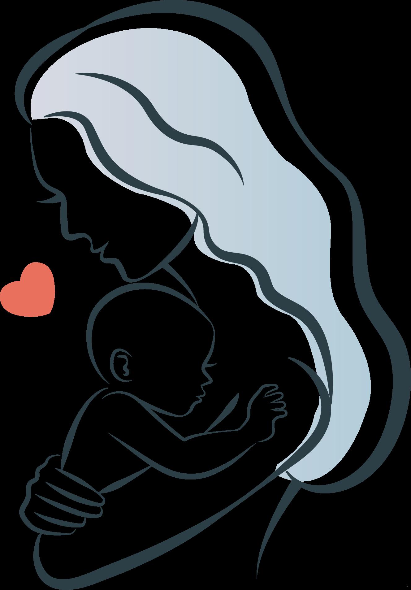 Рисунок для фотошопа мама и сын